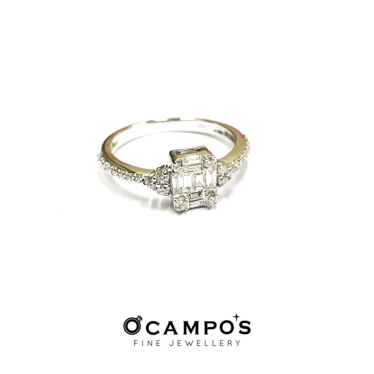 Baguettes Diamond Illusion Ring